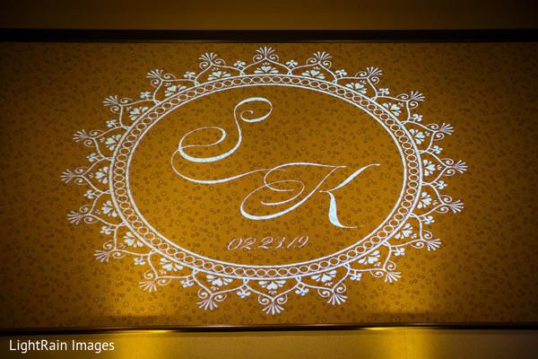 Indian wedding monogram.
