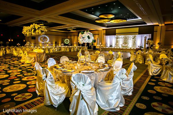 Indian wedding reception venue.