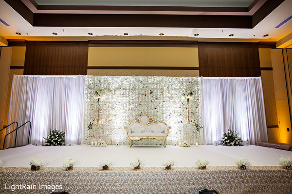 White Indian wedding stage.