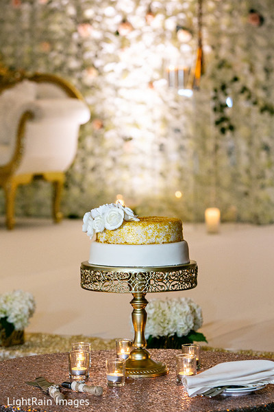 Charming Indian wedding cake.