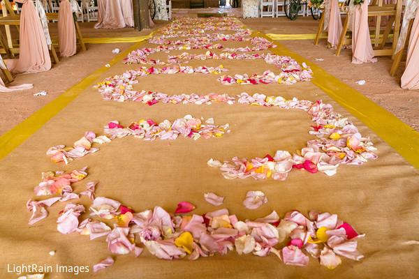 Romantic Indian wedding aisle.