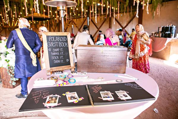 Polaroid Indian wedding guest book.