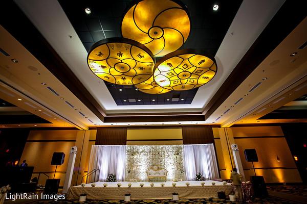 Indian wedding reception stage.