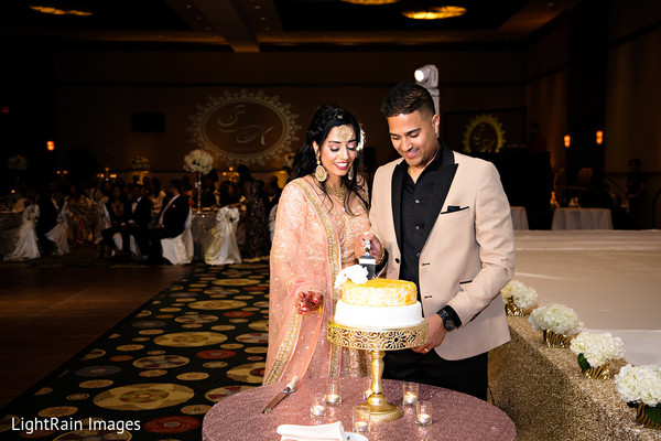 Adorable Indian wedding cake.