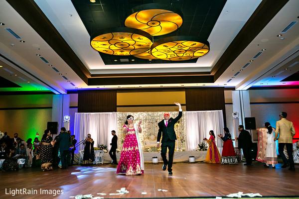 Indian wedding reception choreography.