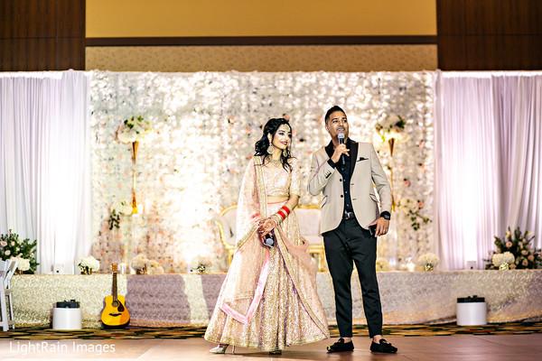 Indian couple's speech.