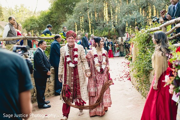 Indian bride and groom's unforgettable moment.