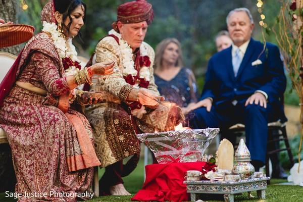 Unique Indian wedding ceremony.