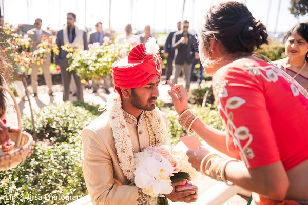 Indian groom during the pre-wedding rituals