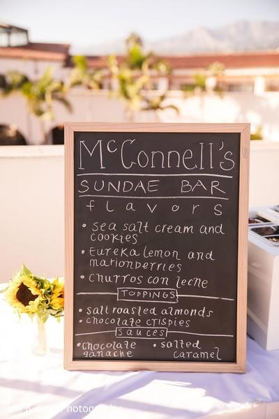 Bar menu details.