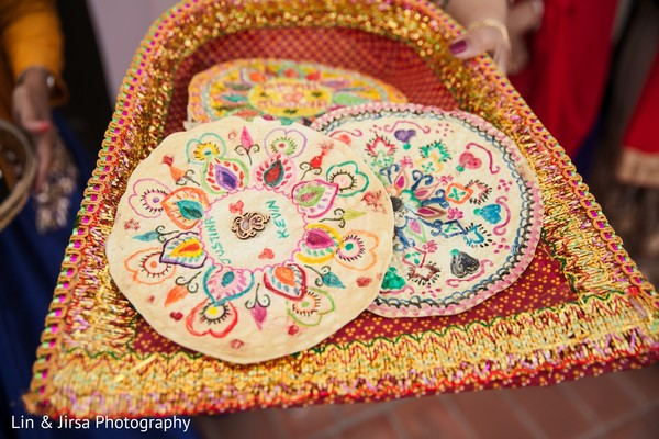 Details of the pre wedding ritual objects.