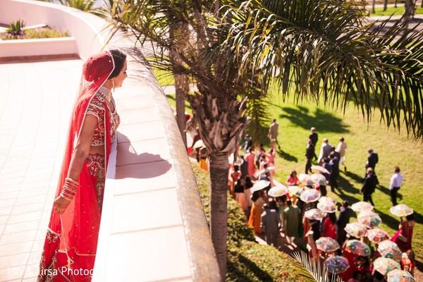 Bride waiting for Baraat.