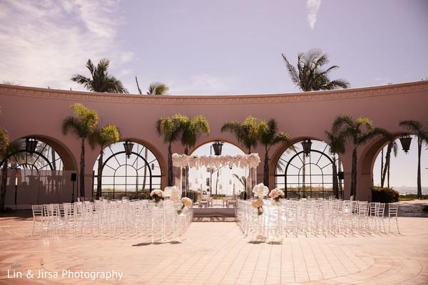 Decor details of the reception venue