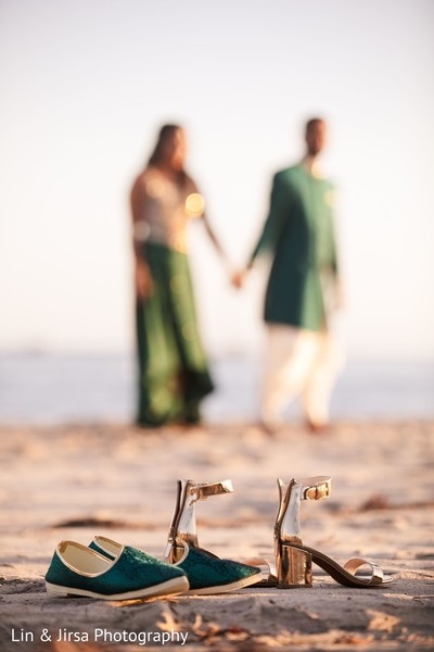 Indian couple's shoes