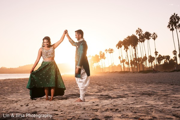 Maharani and Indian groom during the photo shoot
