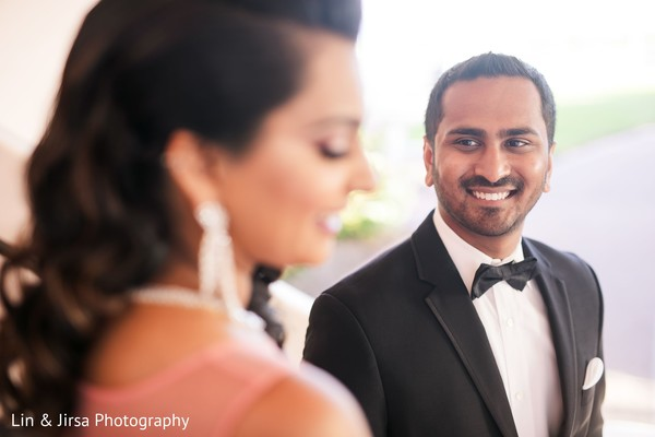 Indian groom looking at the Maharani