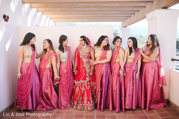 Indian bride with the lovely Maharanis