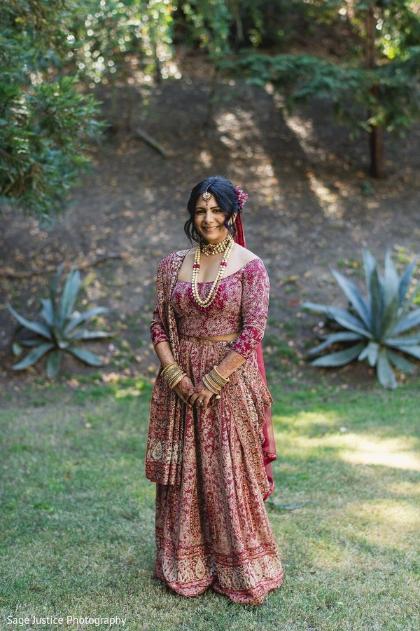 Breathtaking Indian bridal fashion.