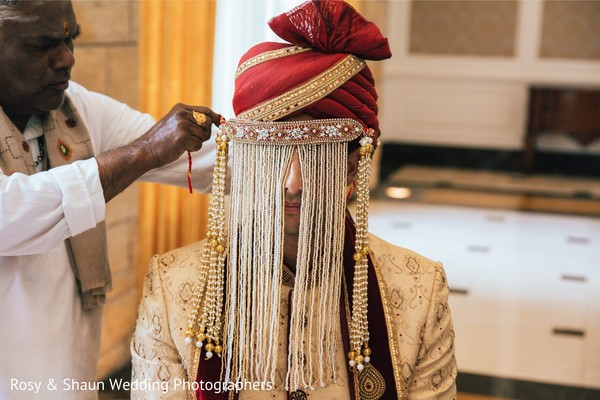 Indian groom sehra