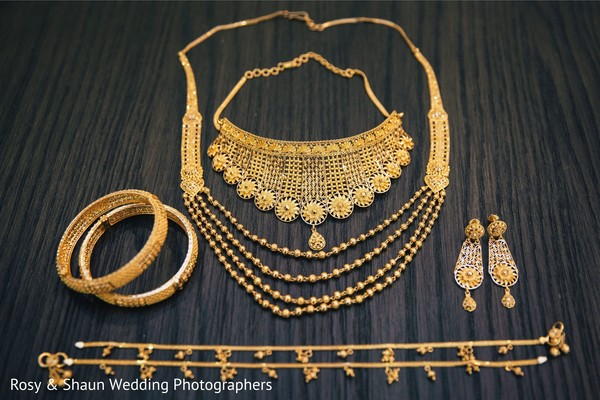 Traditional Indian bridal jewelry.
