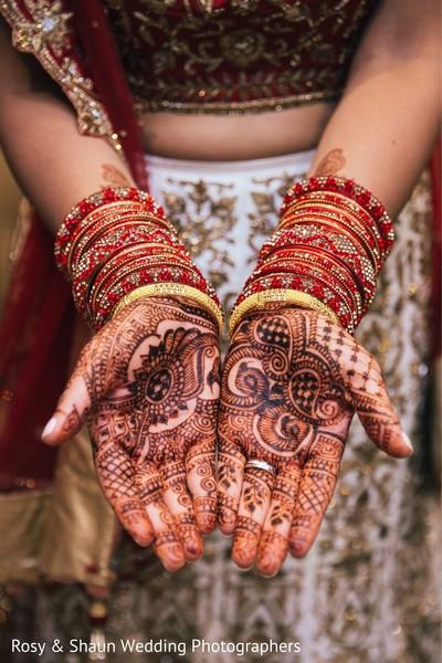 Intricate bridal mehndi.