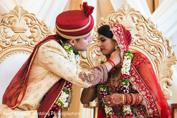 Sweet Indian wedding ritual.