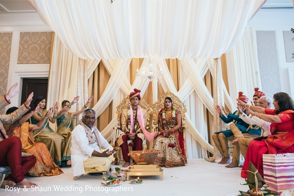Traditional Indian wedding ceremony.