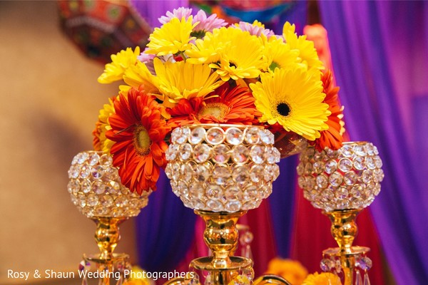 Sangeet night floral decor.