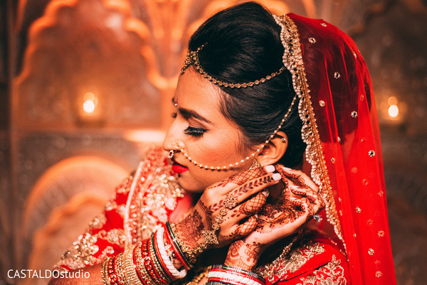 Indian bride posing during the photoshoot