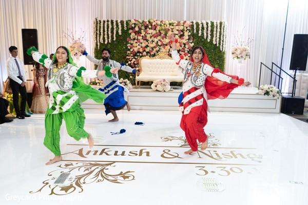 Incredible Indian wedding bollywood dancers.