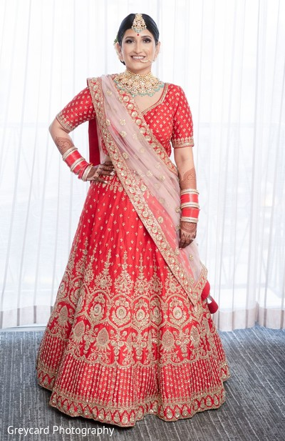 Sweet indian bride ready for her big day.