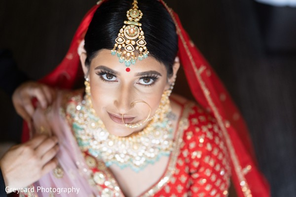 Incredible maharani's ceremony makeup.