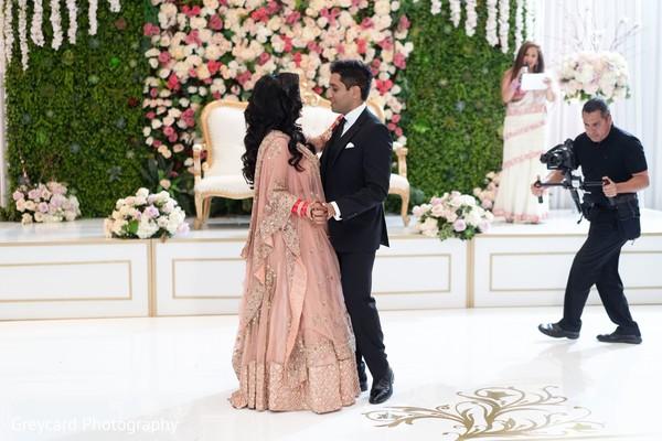 Enchanting Indian couple dance.