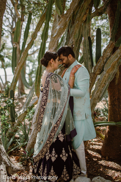 Enchanting indian couple outdoors capture.