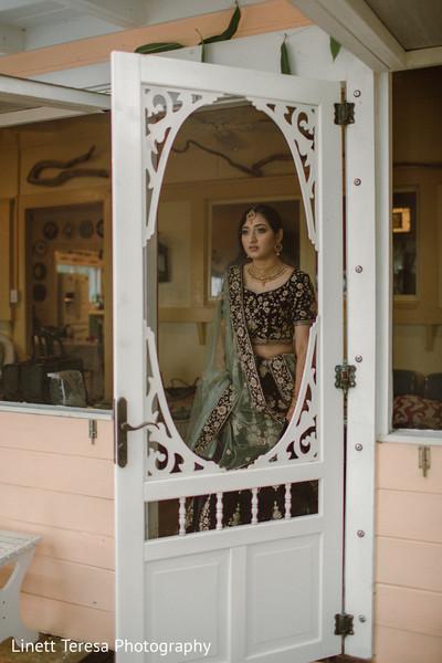 Indian bride on her way to meet the groom.