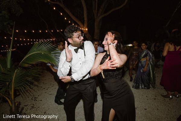 Indian couple rocking the dance floor.