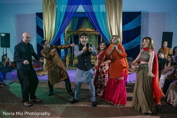 Traditional sangeet night performance