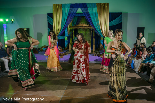 Traditional Indian wedding dance performance