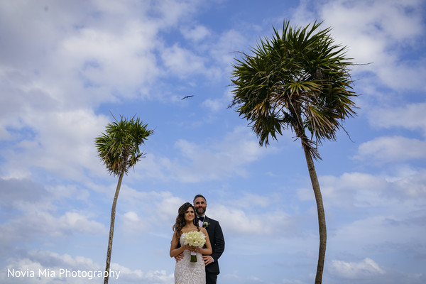 Beach themed bride and groom capture