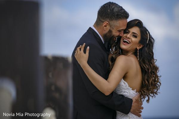 Elegant Indian bride and groom capture