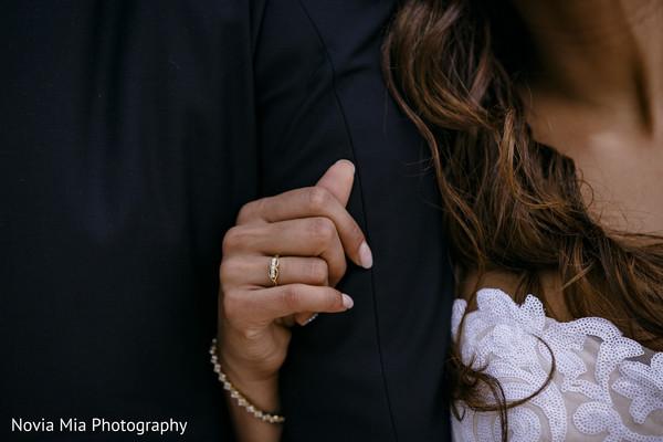 Lovely Indian bride wearing her wedding ring