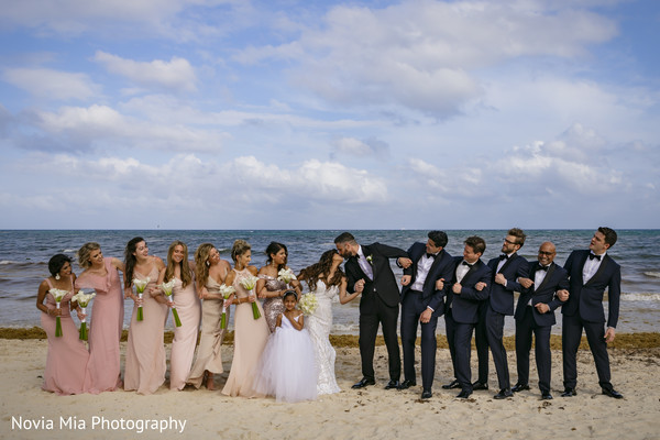 Beach side Indian wedding photo shoot