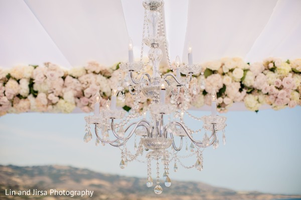 Fascinating indian wedding mandap chandelier decor.