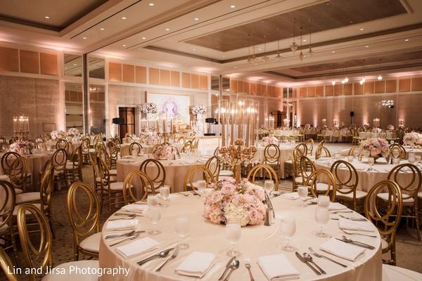 Elegant Indian wedding table set up.