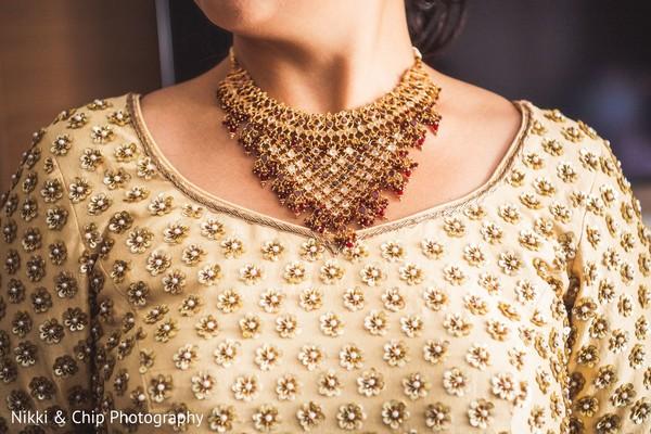 Closeup capture of Maharani's necklace.