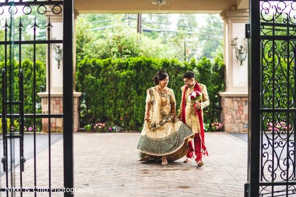 Enchanting indian couple outdoors capture.