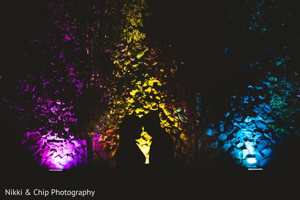 Incredible Indian couple silhouette photo.
