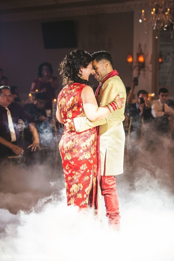 Dreamy Indian lovebirds reception dance capture.