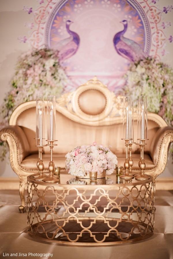Elegant Indian wedding table decor.