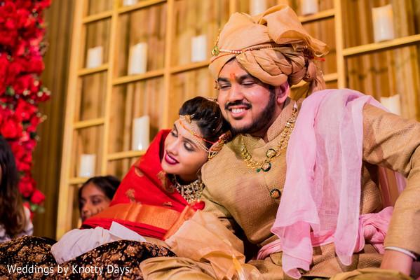 Raja and Maharani having a tender moment